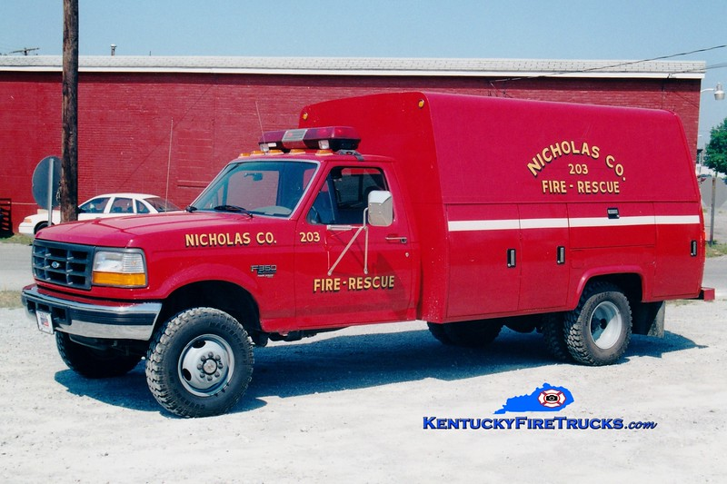 <center> RETIRED <br> Carlisle  Rescue 203 <br> 1995 Ford F-350 4x4/Stahl/Tebco   <br> Greg Stapleton photo <br> </center>