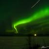 Evening aurora outbreak from Point Woronzof