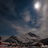 Winter landscape with the full moon at Glen Alps
