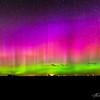 Close ups of the dancing aurora columns