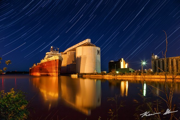 American Victory rests peacefully in Superior, WI as time passes her by on a summer evening