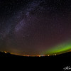 The Milky Way and a fading aurora banner