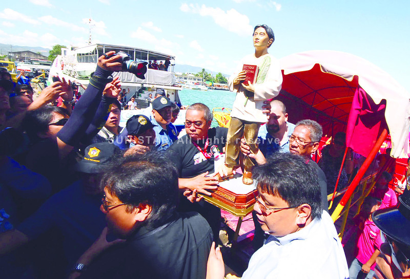 San Pedro Calungsod arrives in Cebu from Bohol