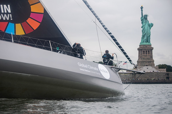 28/08/19 - New York (USA) - Team Malizia and Greta Thunberg arrival - Atlantic crossing