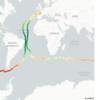 Ocean Temperature full earth lap - Vendée Globe 2020/21 data