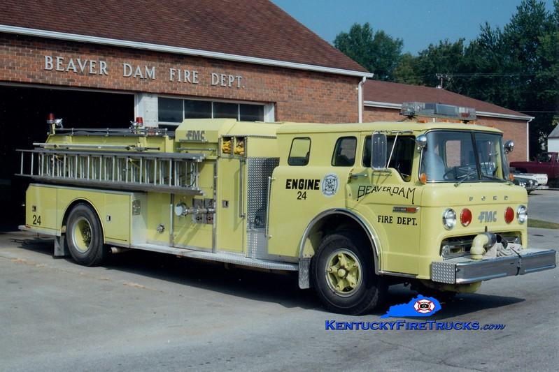 <center> RETIRED <br> Beaver Dam  Engine 24 <br> 1979 Ford C/FMC 1000/1000 <br> Greg Stapleton photo </center>
