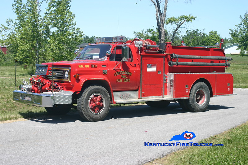 <center> Centertown  Engine 96 <br> 1979 Chevy C70/Bean-FMC 750/750 <br> Kent Parrish photo </center>