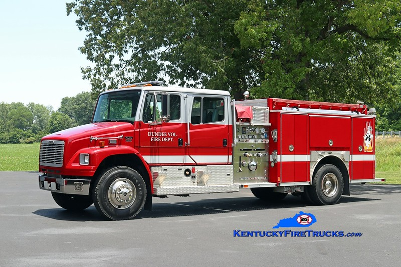 Dundee  Engine 72<br /> x-Clearcreek Twp, OH<br /> 2002 Freightliner FL70/E-One 1250/1000<br /> Kent Parrish photo