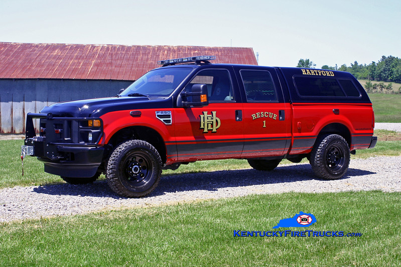 <center> Hartford  Rescue 1 <br> 2009 Ford F-350 4x4/Finley <br> Kent Parrish photo </center>
