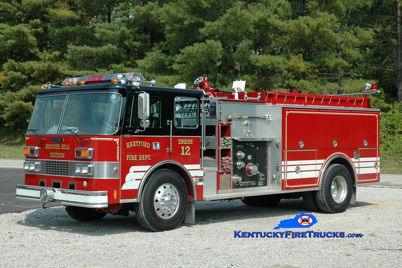 <center> Hartford  Engine 12 <br> x-Junior, WV <br> 1991 Pierce Dash 1250/1250 <br> Greg Stapleton photo </center>