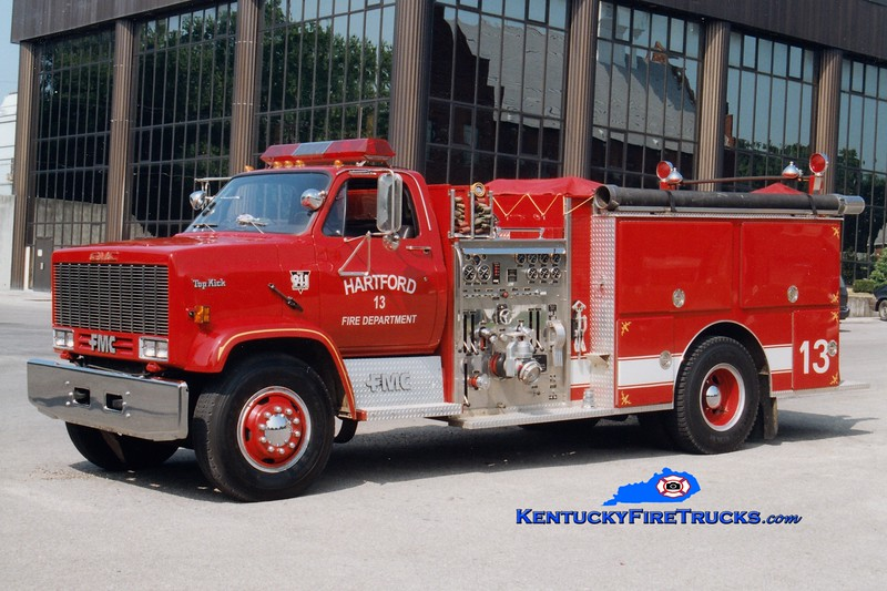 <center> RETIRED <BR> Hartford  Engine 13 <br> 1990 GMC TopKick/FMC 1250/1000  <br> Greg Stapleton photo </center>