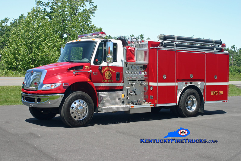 <center> McHenry  Engine 29 <br> 2006 International 4400/E-One 1250/1000 <br> Kent Parrish photo </center>