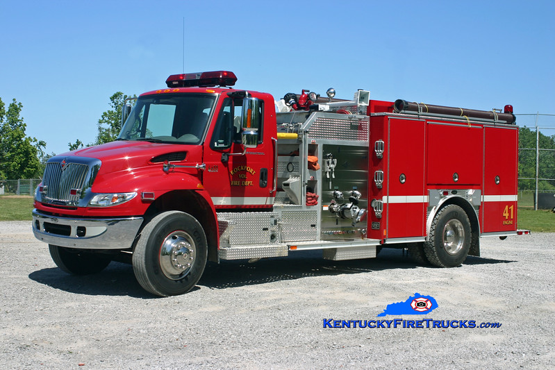 <center> Rockport  Engine 41 <br> 2005 International 4400/E-One 1250/1000 <br> Kent Parrish photo </center>