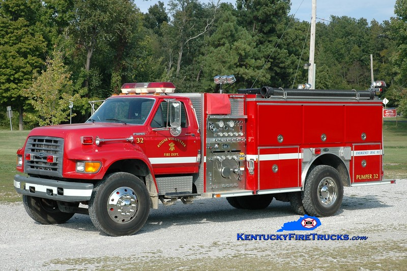 <center> Rosine  Engine 32 <br> 1998 Ford F-800/E-One 1250/1000 <br> Greg Stapleton photo </center>