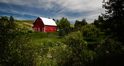 Red Barn in the Palouse, Washington State