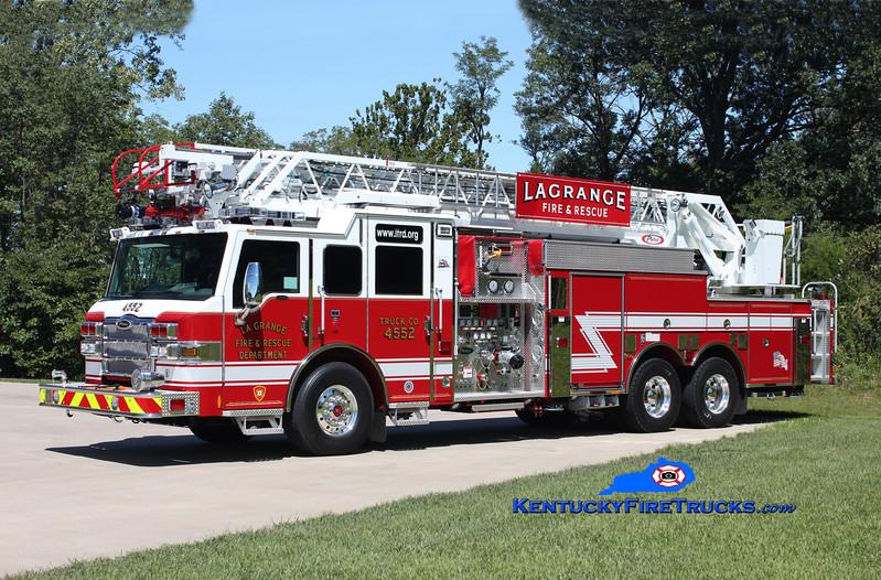 La Grange  Truck 4552<br /> 2010 Pierce Velocity 1500/470/30/105'<br /> Kent Parrish photo