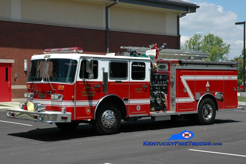 <center> RETIRED <br> La Grange  Engine 4536 <br> 1990 Duplex D-350/Becker 1500/750 <br> Greg Stapleton photo </center>
