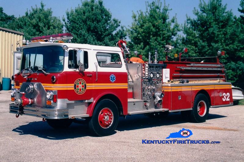 <center> RETIRED <BR> North Oldham  Engine 1432 <br> x-St Matthews, KY <br> 1982 Mack CF 1500/500 <br> Greg Stapleton photo </center>