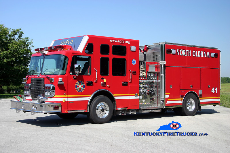 RETIRED<br /> North Oldham  Quad 1441<br /> 2007 Spartan Gladiator/Custom Fire 2000/1000/30<br /> Kent Parrish photo