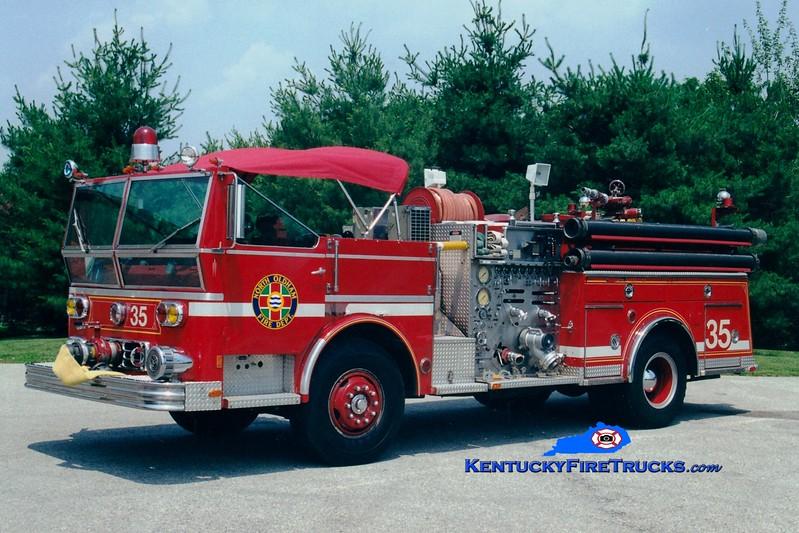<center> RETIRED <BR> North Oldham  Engine 1435 <br> x-Middletown, KY <br> 1977 Ward LaFrance Ambassador 1000/500 <br> Greg Stapleton photo </center>
