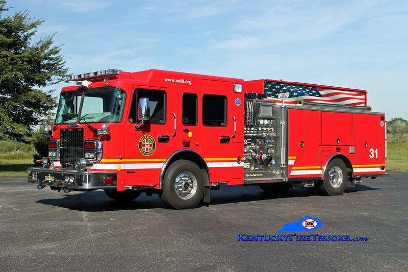 <center> North Oldham  Engine 1431 <br> 2010 Spartan Gladiator/Custom Fire 1500/1000/30 <br> Kent Parrish photo </center>