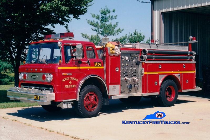 <center> RETIRED <BR> North Oldham  Engine 1424 <br> 1977 Ford C-900/E-One 1000/500 <br> Greg Stapleton photo </center>