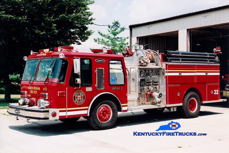 RETIRED<br /> North Oldham  Engine 1432<br /> x-Harrods Creek, KY<br /> 1984 E-One Hurricane 1250/750<br /> Greg Stapleton photo