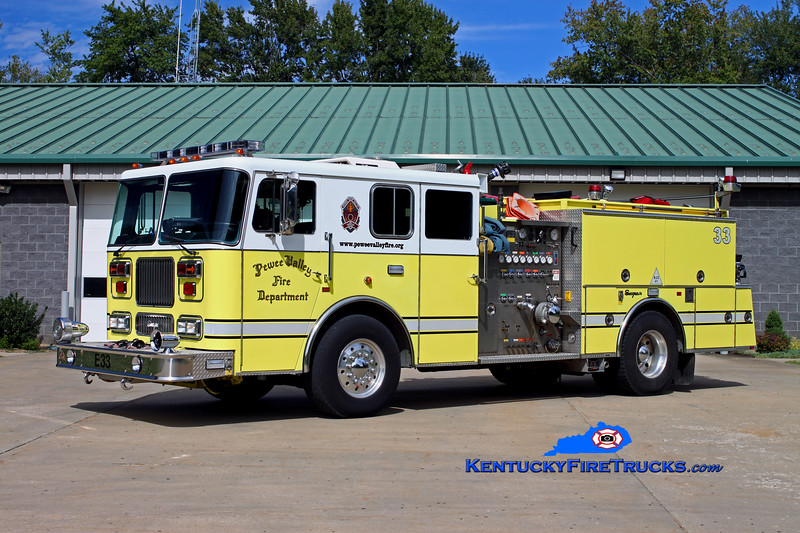 <center> Pewee Valley  Engine 8433 <br> 1992 Seagrave Marauder 1250/750 <br> Kent Parrish photo </center>