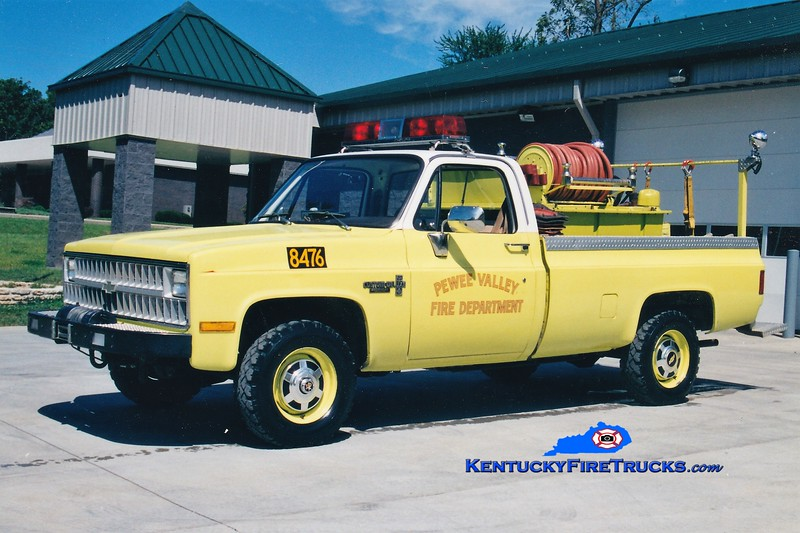 Pewee Valley  Brush 8476<br /> 1981 Chevy K20 4x4/American 300/250<br /> Greg Stapleton photo