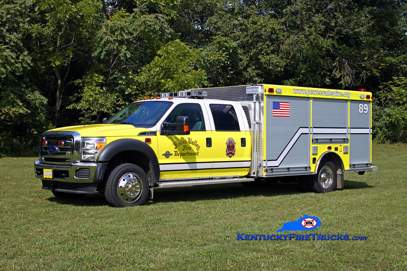 <center> Pewee Valley  Rescue 8489 <br> 2012 Ford F-550 4x4/Warner Bodies <br> Kent Parrish photo </center>