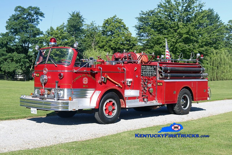 This rig was original to the Lyndon Fire District in Louisville Metro/Jefferson County, KY.  It is now 1 of 6 rigs privately owned by a retired Fire Chief and apparatus buff, residing in Oldham County.  <br /> <br /> x-Lyndon, KY  <br /> 1966 Mack C 1000/500<br /> Kent Parrish