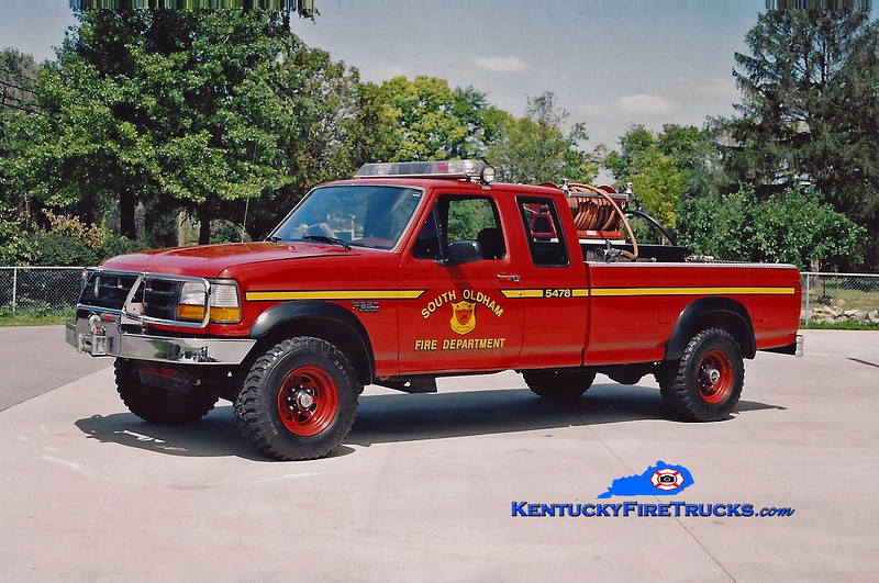 <center> RETIRED <br> South Oldham  Brush 5478 <br> 1994 Ford F-350 4x4 100/200 <br> Kent Parrish photo </center>