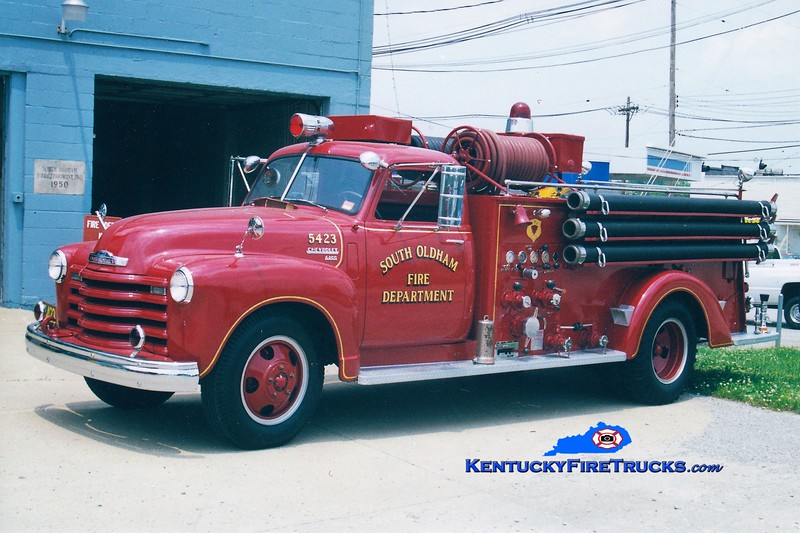 PRIVATELY OPERATED <br /> South Oldham  Engine 5423<br /> 1951 Chevy 6400/Boyer 500/300<br /> Greg Stapleton photo