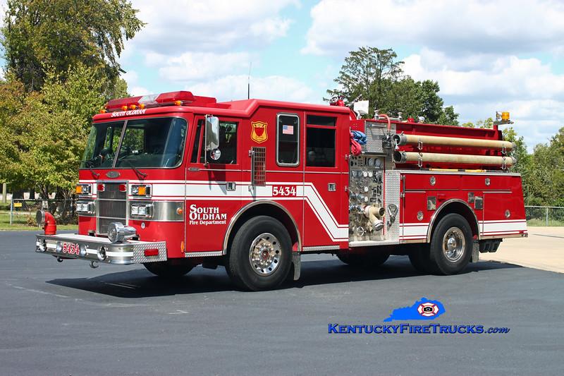 <center> RETIRED <br> South Oldham  Engine 5434 <br> 1994 Pierce Dash 1500/750 <br> Kent Parrish photo </center>