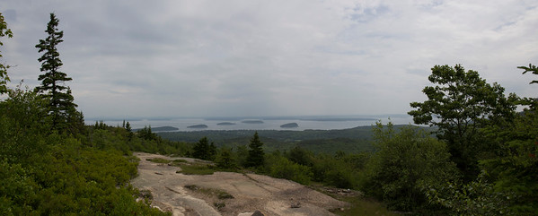 View of Porcupine Islands From Cadillac Mount North Ridge Trail