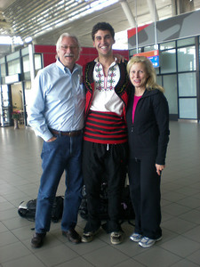 Yes this is how I met my Dad and stepmom at the airport! Full blown traditional Bulgarian getup!