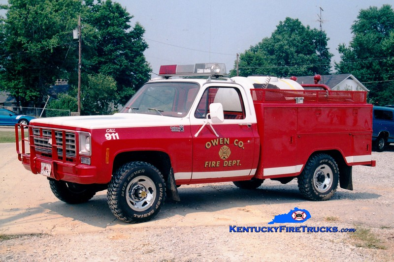 <center> Owen County  Brush 9923 <br> 1978 Chevy 4x4/Stahl 250/250<br> Greg Stapleton photo </center>