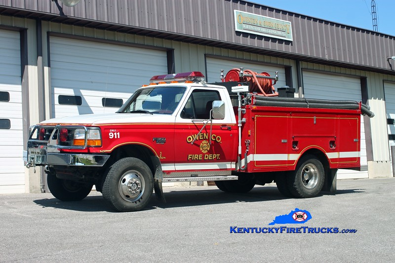 <center> Owen County  Brush 9924 <br> 1997 Ford F-350 4x4/Omaha 250/250<br> Kent Parrish photo </center>
