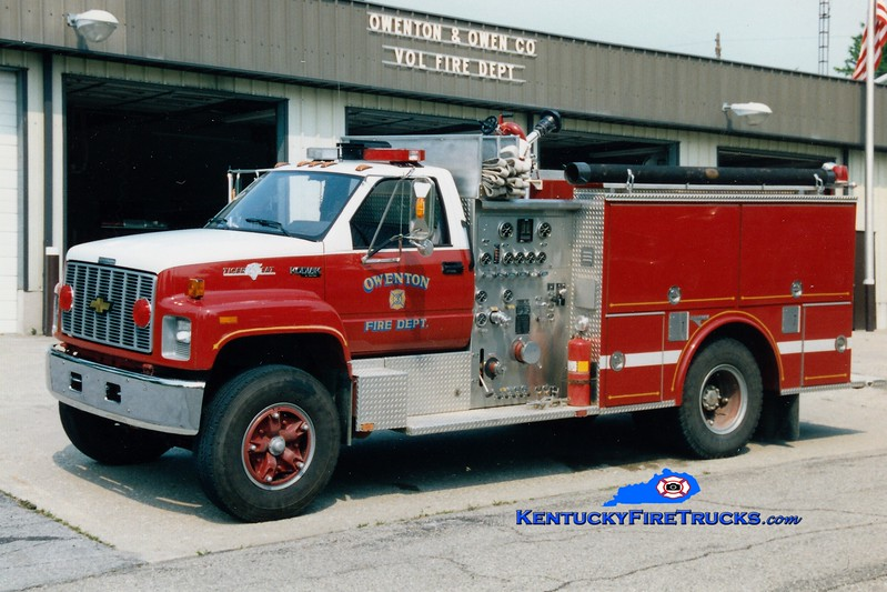 <center> RETIRED <BR> Owenton  Engine 3 <br> 1991 Chevy Kodiak/Grumman 1000/500 <br> Greg Stapleton photo </center>