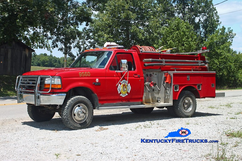 <center> RETIRED <br> South Owen  Brush 9560  <br> 1993 Ford F-350 4x4/Local/SOFD 300/300 <br> Kent Parrish photo </center>