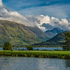 Panorama over Ben Nevis and Fort William
