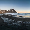 Sunrise over Vestrahorn, seen from Stokksnes