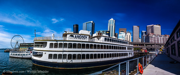 Seattle Harbor Panorama with the Argosy