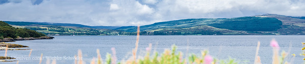 Looking from Fank across the Sound of Mull  toward Aros - Panorama