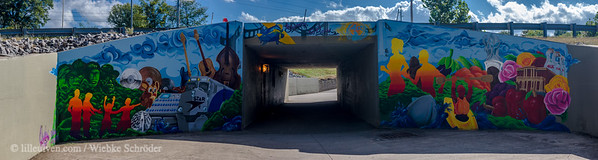 Tunnel below Briley Parkway (Panorama), Nashville