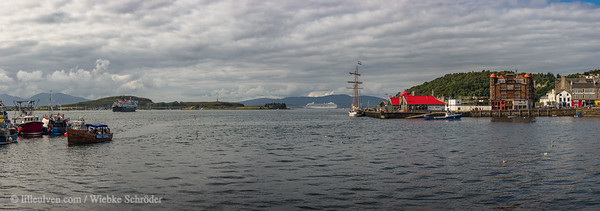 Harbor panorama of Oban