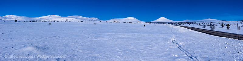 Panorama over the mountains of the Venabufjell