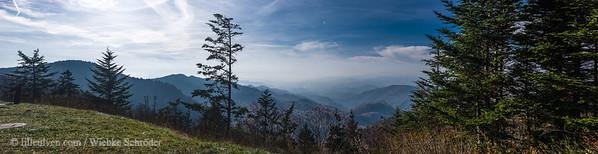 Waterrock Knob Visitor Center, Blue Ridge Parkway (Panorama)