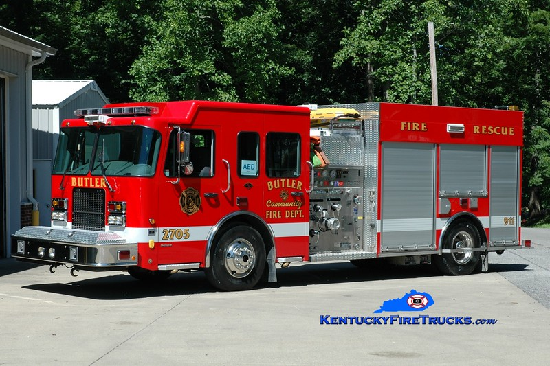 <center> Falmouth  Engine 2705 <br> x-Butler, KY <br> 2007 Spartan Advantage FF/Summit 1250/1000 <br> Greg Stapleton photo </center>