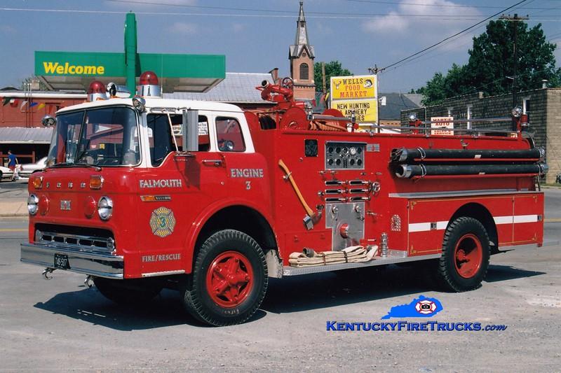 <center> RETIRED <br> Falmouth  Engine 3 <br> 1974 Ford C/Sutphen 1000/500 <br> Greg Stapleton photo </center>